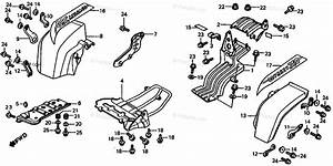 Honda Atv 1985 Oem Parts Diagram For Rear Fender    Skid