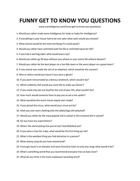 109 get to you questions to ask