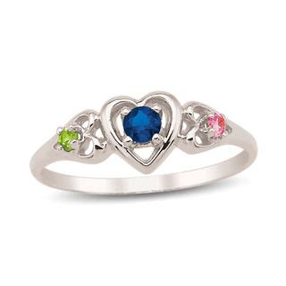 design your own mothers rings s birthstone ring 3 stones