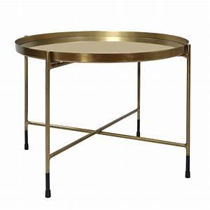 Table Basse Dorée : table basse ronde dusti laiton d couvrez les tables basses rondes dusti laiton rdv d co ~ Teatrodelosmanantiales.com Idées de Décoration