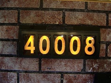 led lighted solar house number truckee house