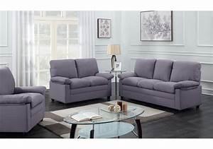 Fauteuil 3 Places : salon 3 pi ces chicago tissu gris fonc 1 canap 3 places 1 canap 2 places 1 fauteuil 1 ~ Teatrodelosmanantiales.com Idées de Décoration