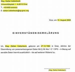 Formlose Einverständniserklärung Muster : parlamentarische materialien ~ Themetempest.com Abrechnung