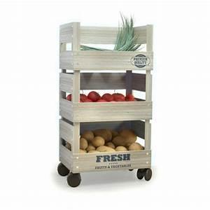 Rangement Fruits Et Légumes : meuble de rangement fruits et l gumes sur roulettes cadeau maestro ~ Melissatoandfro.com Idées de Décoration