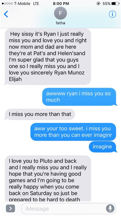 brother sends insanely heartwarming text convo