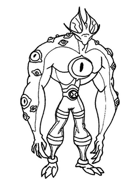 Ben 10 Coloring Pages Realistic Coloring Pages