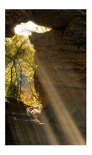 Limestone Cave Waterfall Spain Wallpaper