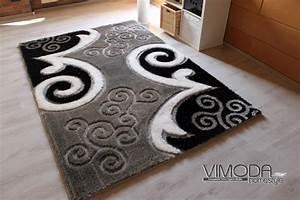 Teppich Schwarz Weiß Grau : moderner luxus shaggy teppich mit glitzer effekt schwarz grau weiss neu ebay ~ Eleganceandgraceweddings.com Haus und Dekorationen