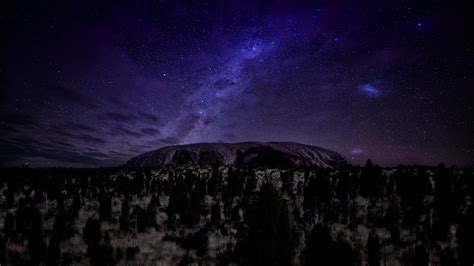 Milky Way Dark Night Nature Wallpapers Images