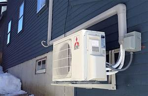 Outdoor Mitsubishi Heat Pump Unit  Greene  Me