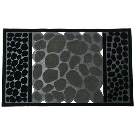 Unique Outdoor Doormats by Rubber Cal Rubber Door Mat Rubber Cal Quot River Rocks