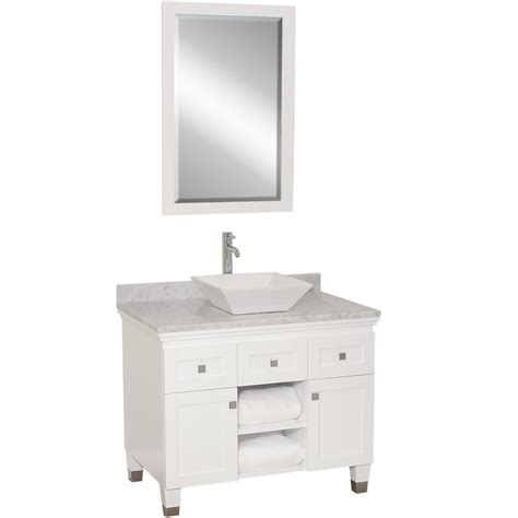 premiere single vessel sink vanity white bathgemscom