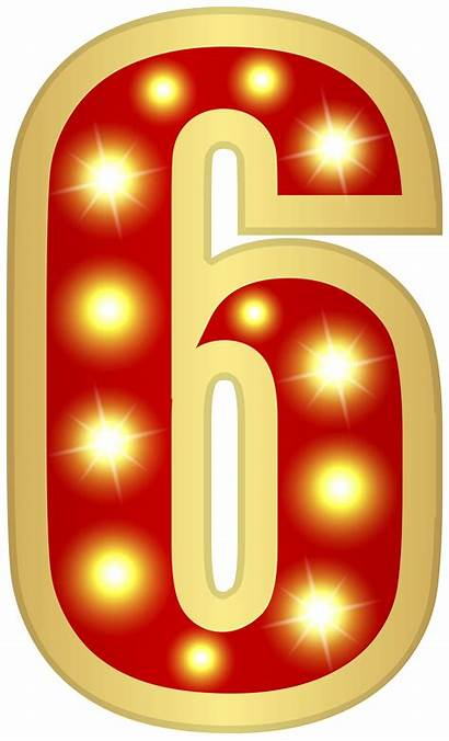 Clipart Number Glowing Six Decorative Numbers Random