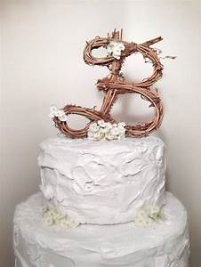 letter b rustic grapevine wedding cake topper 2221678 With wedding cakes with letter toppers