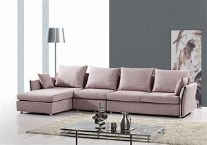 Exquisite tufted curved sectional sofa in micro fabric for Sectional sofas sioux falls sd