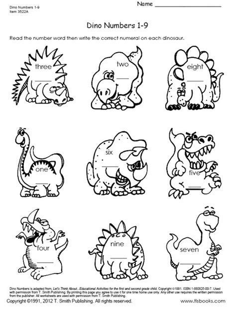 dinosaur worksheets for 1st grade worksheets for all