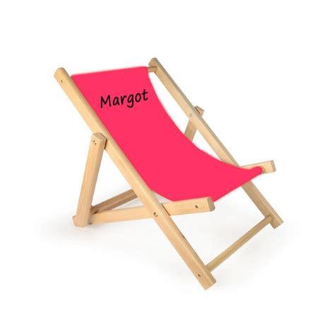 chaise personnalisée chaise longue enfant personnalisée toile