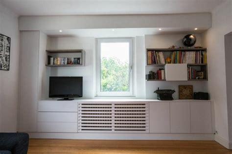 muebles tv integrados  biblioteca  ideas modernas