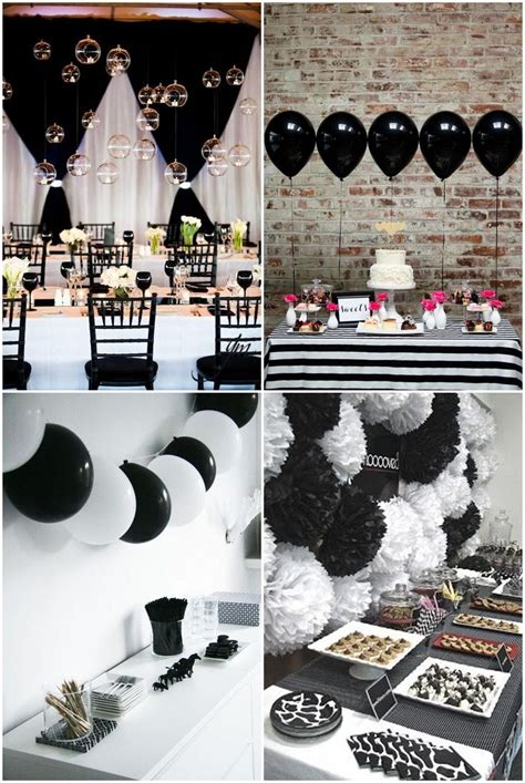 Black And Gold 50th Birthday Decorations by Black And White 50th Party Decorations 1000 Ideas About