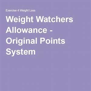 Smart Points Allowance Chart Pin On Weight Watchers