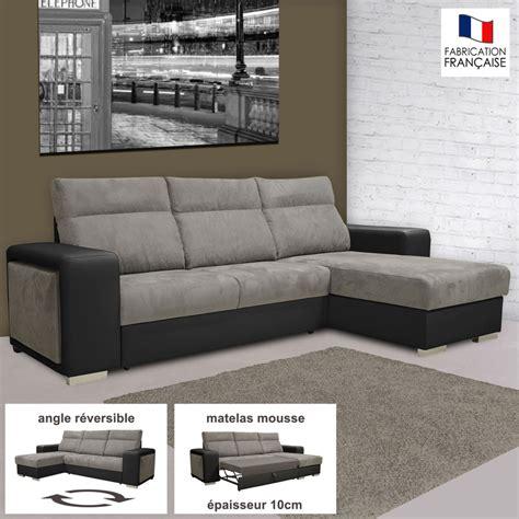 canapé d angle microfibre gris canapé d 39 angle réversible convertible pu microfibre noir