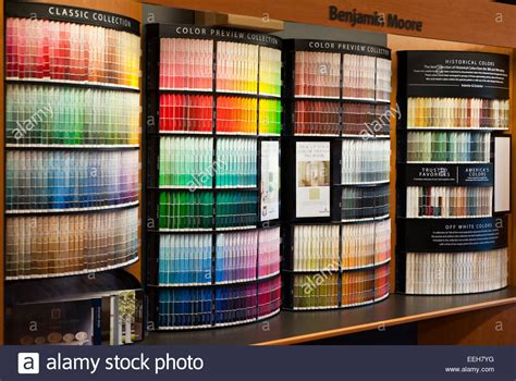 benjamin paint store color display stock photo 77826100 alamy