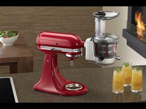 kitchenaid entsafter aufsatz ksmja youtube