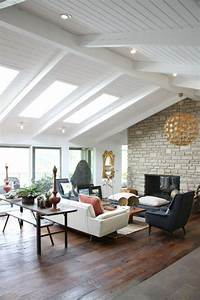Vaulted Ceiling  Beams  Skylights  Those Floors