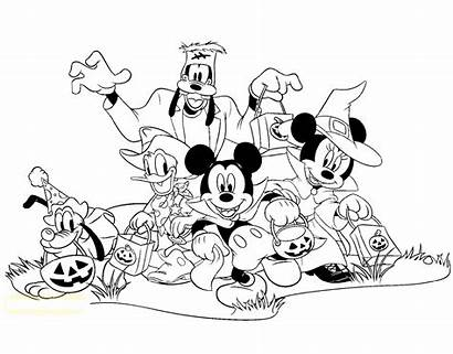Mickey Coloring Halloween Mouse Pages Disney Disneyclips