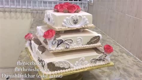 tiers wedding cake  whipped cream youtube