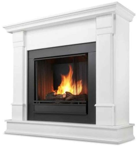 Real Flame Silverton Gel Fireplace In White Hot Home Air