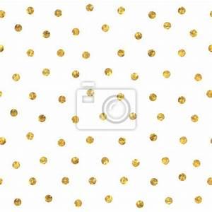 Papier Peint Noir Et Doré : seamless polka dot motif dor papier peint papiers peints facettes al atoire polka ~ Melissatoandfro.com Idées de Décoration