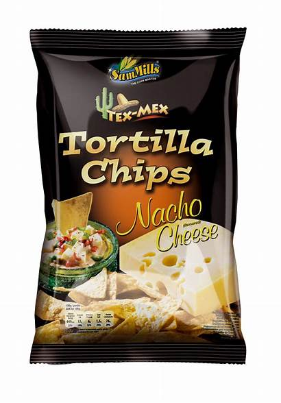 Cheese Tortilla Nacho Chips Sam Line Mills