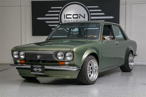 Datsun Car : Full Custom-green- 1973 Datsun 510 Show Car