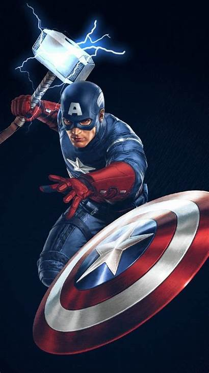 Worthy Iphone Captain America Hammer Thor Wallpapers