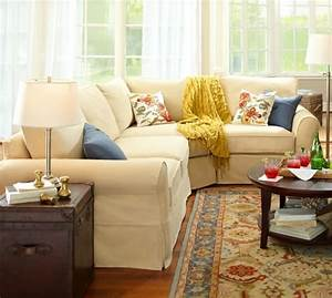 pb comfort roll arm slipcovered 3 piece sectional with With pottery barn comfort sofa sectional