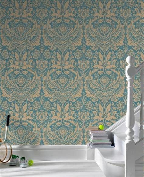 Desire Dark Green Damask  Eclectic  Wallpaper Other