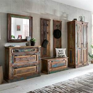 Möbel Aus Recyclingholz : garderobenset woodstock in bunt shabby chic ~ Sanjose-hotels-ca.com Haus und Dekorationen