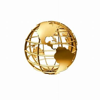 Globe Golden Transparent Clipart Earth Globes Map