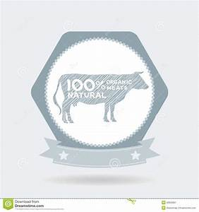 Farm Shop  Cow Silhouette  Milk Diagram And Design