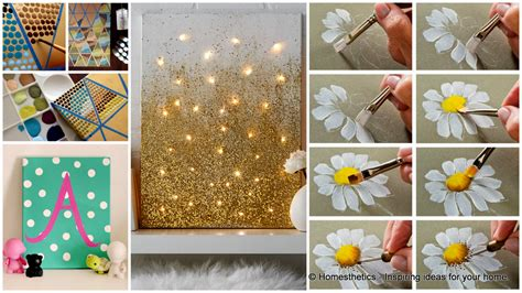 Painting Ideas Diy by Decor Interesting Way And Easy Canvas Painting Ideas
