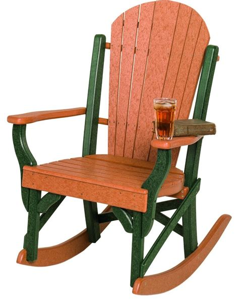 Outdoor Porch Chairs by Poly Lumber Fanback Porch Rocking Chair 7 Premium Colors