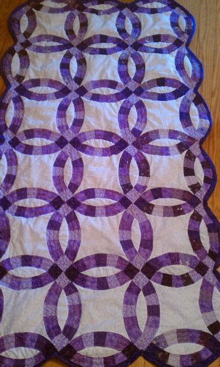 wedding ring quilt sold custom quilts wedding ring quilt purple wedding rings