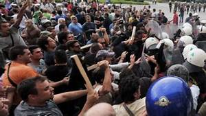 Athens police fire tear gas in crackdown clashes at anti ...