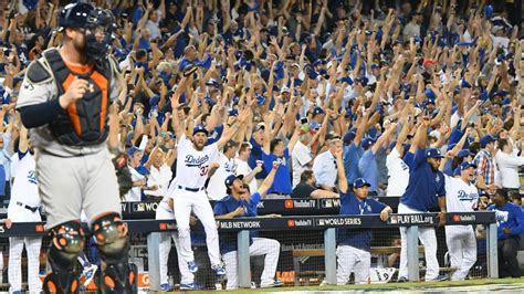 dodgers beat astros     game  world series