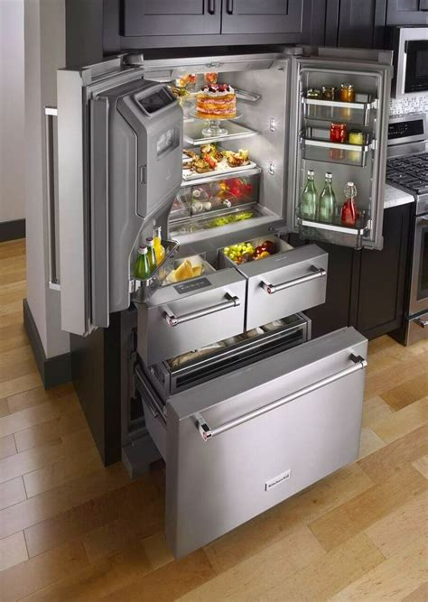 le refrigerateur cuisines en  cuisine luxe frigo