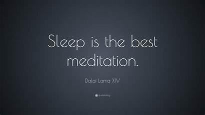 Sleep Meditation Lama Dalai Quote Wallpapers Quotes