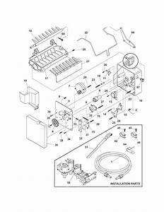 Ice Maker Diagram  U0026 Parts List For Model 25344383405 Kenmore