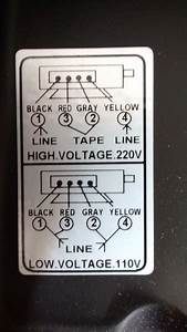 Changing Input Voltage On Motor From 110v To 220v