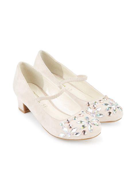 ivory strap flowergirl shoe  monsoon flower girls